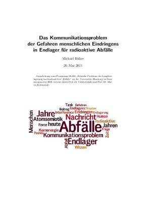 Titelblatt der Seminararbeit