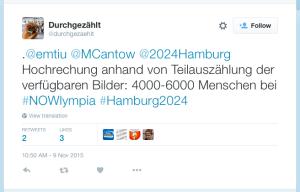 """""""Forschungsgruppe Durchgezählt"""" auf Twitter: Hochrechnung zu insgesamt 4.000 bis 6.000 Menschen."""